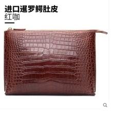 hanlante Crocodile-skin envelope bag, male leather belly large-capacity high-grade handbag