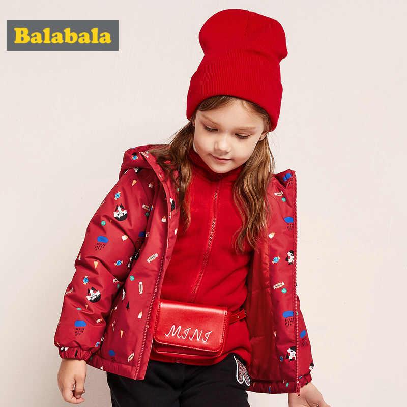 Balabala Kleinkind Mädchen 2 in 1 Outdoor Jacke mit Abnehmbaren Fleece Jacke mit Stand-up Kragen Kinder Gedruckt Jacke windbrekear