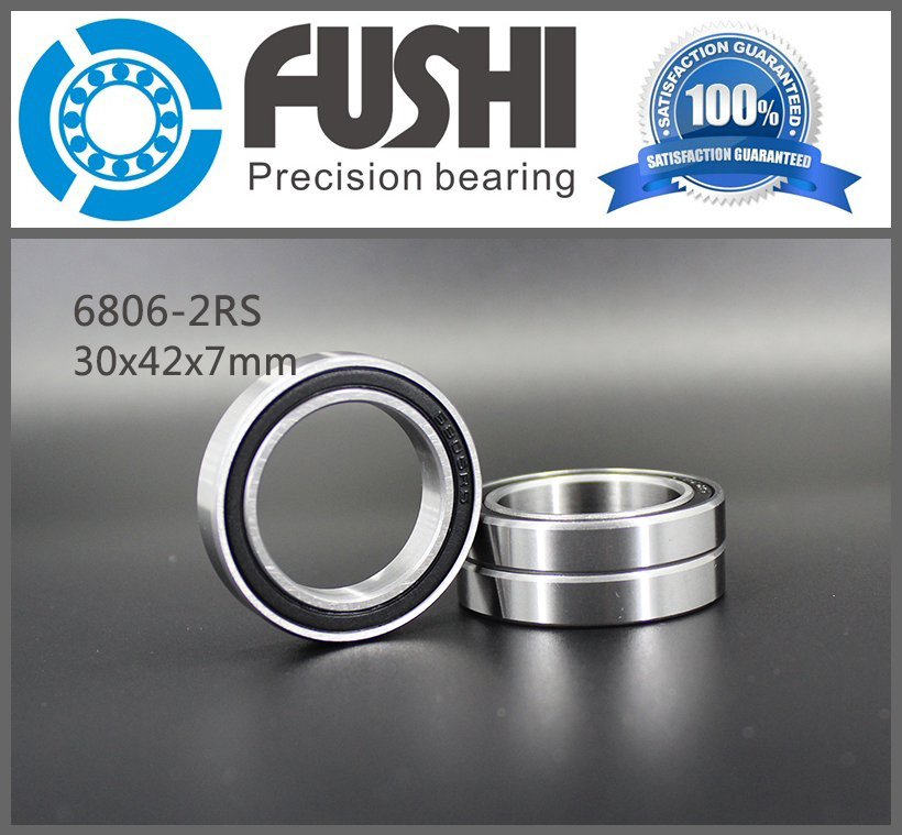 6806-2RS Bearing ABEC-1 (10PCS) 30x42x7 mm Thin Section 6806 2RS Ball Bearings 6806RS 61806 RS 1pcs 71901 71901cd p4 7901 12x24x6 mochu thin walled miniature angular contact bearings speed spindle bearings cnc abec 7