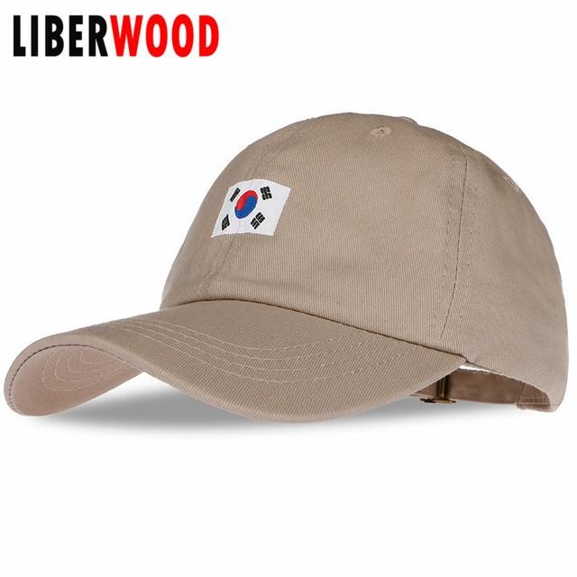 LIBERWOOD  women baseball caps South Korea embroidery snapback hat for men  Flag Of Korea hats cotton caps casquette gorras 0390157441f