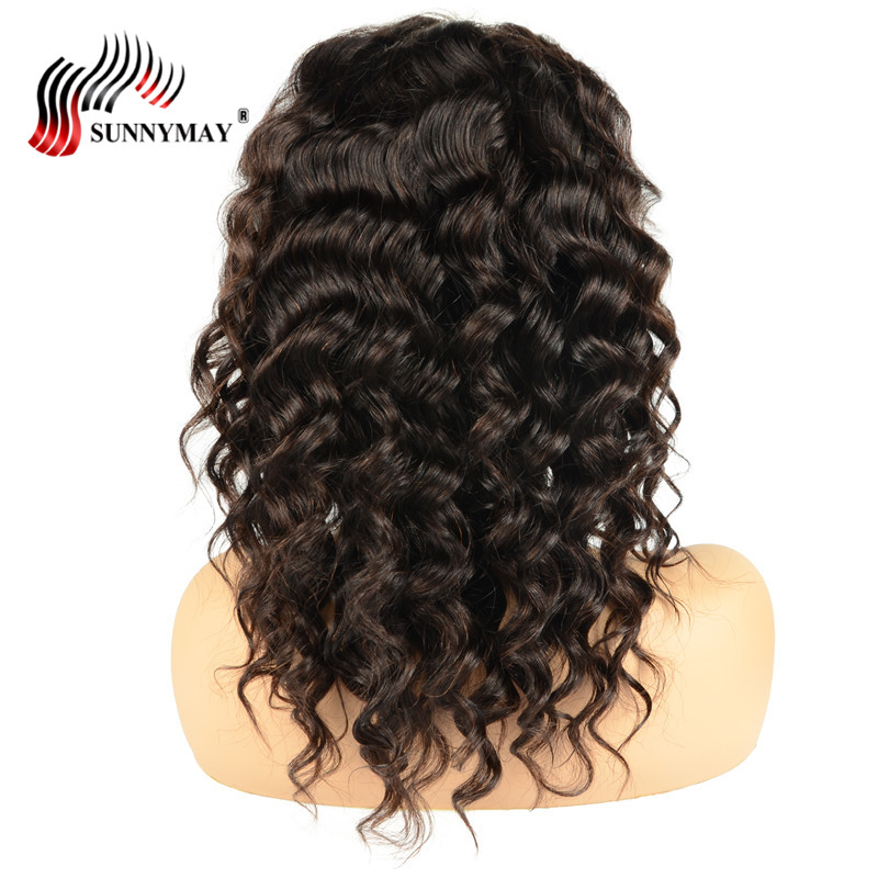 Sunnymay Loose Wave Lace Front Human Hair Wigs With Baby Hair Peruvian Virgin Lace Front Wigs Pre Plucked