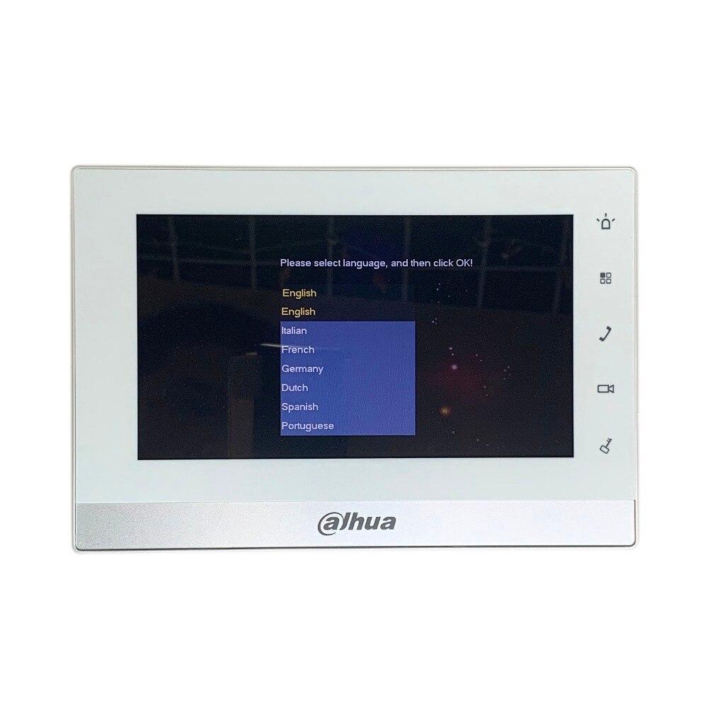 AHUA multi-langue CE VTH1550CH 7 pouces tactile moniteur intérieur, précision internationale, sonnette IP, interphone vidéo, sonnette filaire - 2