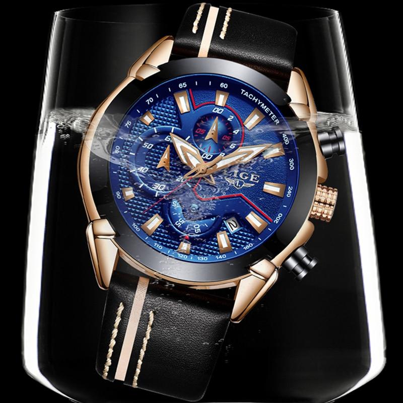 LIGE ρολόι άνδρες μόδα χαλαζία στρατού - Ανδρικά ρολόγια - Φωτογραφία 4