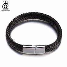 ORSA JEWELS Charm Real Leather Braided Rope Bracelets with S