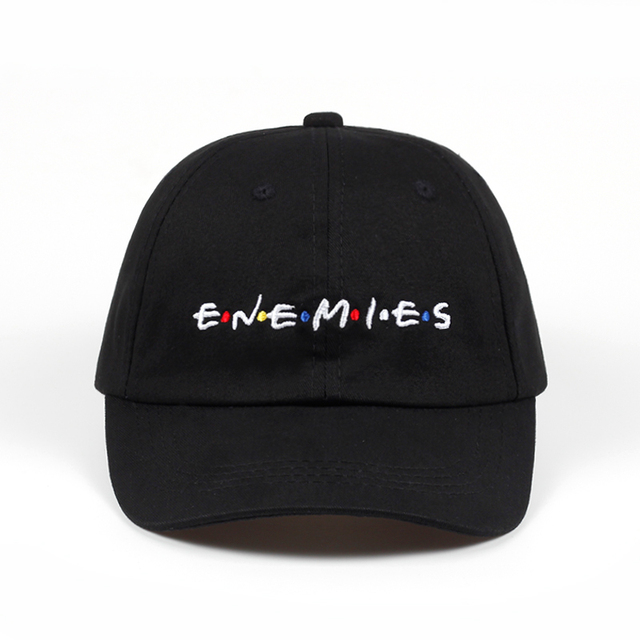 US $6 6 |100% Cotton Embroidery ENEMIES Baseball Cap Dad Hat Bone casquette  Hat Snapback Caps Wearing Fitted Hat For Men Custom Hats-in Baseball Caps