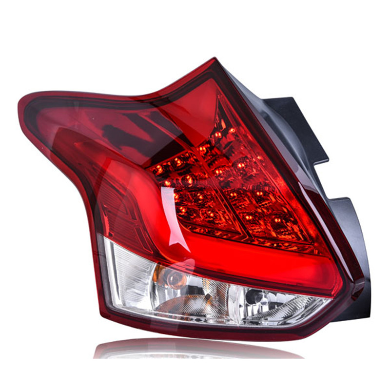 Ownsun High Quality LED DRLs+Brake Lights+Reversing Lights+Turn Singnal Car Rear Taillights Tail Lamps For Ford Focus 2012 automotive halogen lamps tail lights rogue reversing lights brake lights beep sound the alarm lamp