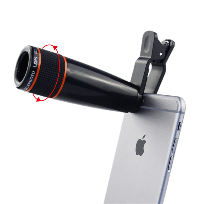 Image 5 - Universal 12X Telephoto Telescope Optical Zoom Lens+ Wide Angle & Macro+ Fisheye Lens Camera Lens Kit for iPhone7 6 Plus Samsung-in Mobile Phone Lens from Cellphones & Telecommunications