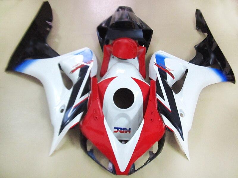 Инъекции Обтекатели наборы для HONDA 2006 2007 CBR1000RR fireblade Белый Красный тела ремонт украшения для мотоцикла CBR1000RR 06 07