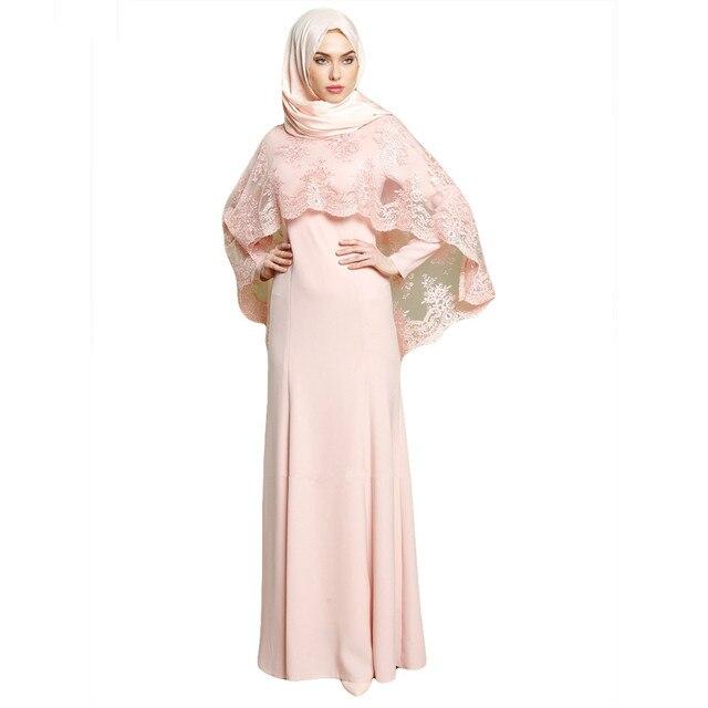 850737fdbe 2018 Ic Women Clothing Lace Cloak Dubai Kaftan Long Muslim Dress Arab Eid  Dresses Embroidery With