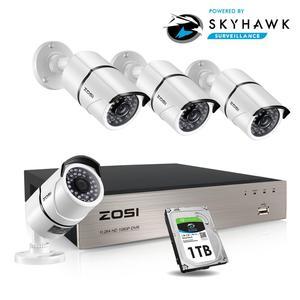 Image 1 - ZOSI HD 8CH CCTV System Set FULL 1080P DVR 4PCS 2.0MP 1920TVL IR Outdoor Security Camera System 8 Channel Video Surveillance Kit