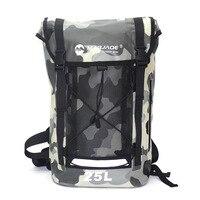 25L Sports Swimming Waterproof Dry Backpack Bag For Men's PVC Impermeable Water Proof Ocean Hiking Backpack Bag Pack Sporttas