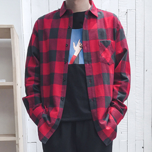 2019 Mens Long Sleeve Plaid  Casual Shirt 100%Cotton 19colors Comfortable flannel Spring and autumn Slim fit Brand men Male