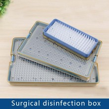 Stainless Steel Disinfection Box Silicone Disinfection Box Instrument Disinfection Box Surgical Instruments High Temperature and makeup scissor ophthalmic microsurgical instruments surgical autoclavable surgery silicone disinfection box cosmetic makeup tool