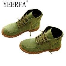 YEERFA Z Apatos Mujerฤดูหนาวฤดูใบไม้ร่วงรองเท้าหิมะผู้หญิงบู๊ทส์เทียมขนใบบนรองเท้ารถจักรยานยนต์ข้อเท้ารองเท้าผู้หญิงขนาด35-40