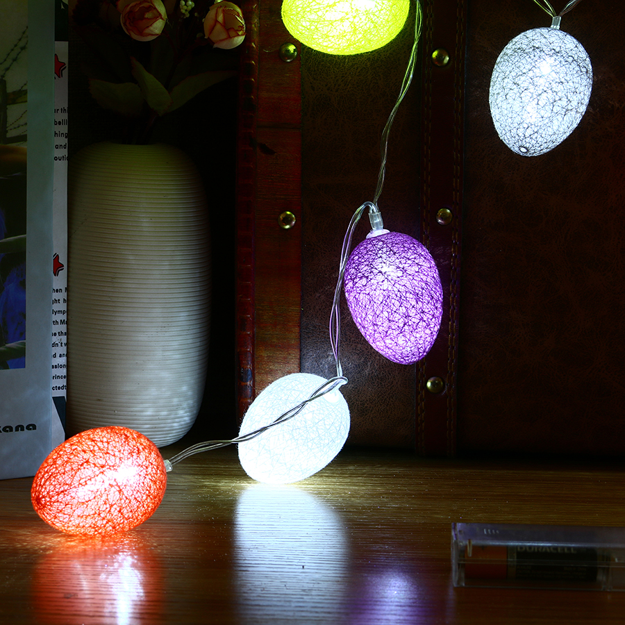 Nice New Led Cute Colorful Egg String Light Chicken Lamp Balcony Bedroom Garland Home Easter Decoration Easy To Lubricate Lighting Strings