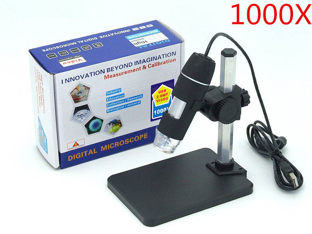 1000x mikroskop cyfrowy usb uchwyt nowy 8 led endoskop z