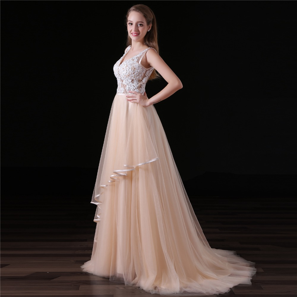 Flowing Bridal Dress