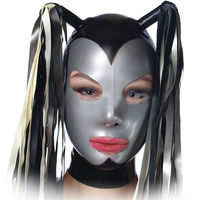 MONNIK latexLatex mask Sexy Latex Hood Rubber Mask Open Eye And Mouth for Party Wear Catsuit Unique