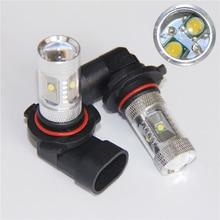 цена на hot sale Car 2X High power Car led HB3 9005 fog light lamp 30W cree Chip DRL Driving light External light White 6000K Free Shipp