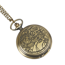 boys girls pocket watch Retro Bronze Doctor Who Theme Fashion Quartz Pocket Watch Men Women Gift Relogio De Bolso new arrival hot uk tv doctor who theme series fashion quartz pocket watch chain necklace pendant watches dr who fans gift 2017