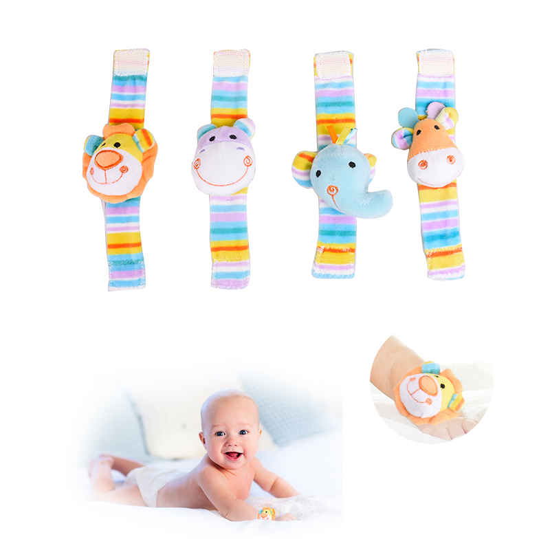 1pc Baby Plush Rattles Toys Infant Soft Kids Toy Baby Watch 0-12 months Russian And English Style Baby Wrist Strap Bibis Doll