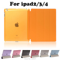 For Apple Ipad 2 3 4 Case Magnetic Flip Leather Case For New Ipad3 Ipad4 PU