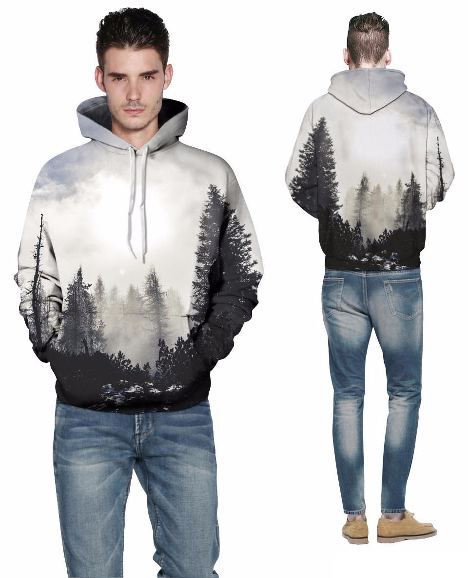 Wolf Printed Hoodies Men 3D Hoodies Brand Sweatshirts Boy Jackets Quality Pullover Fashion Tracksuits Animal Street wear Out Coat 131