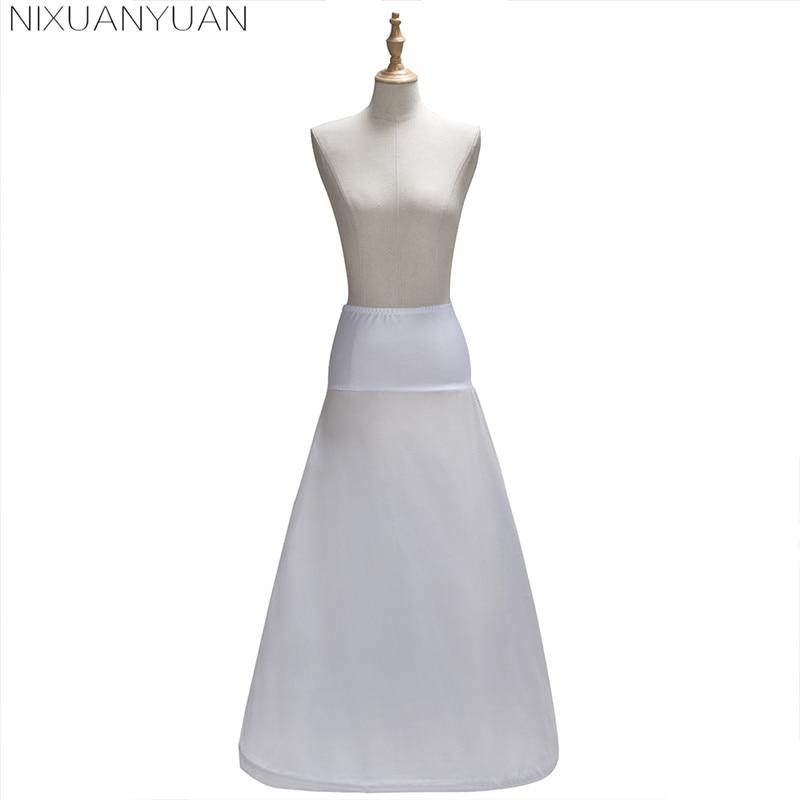 2020 New Arrives 100% High Quality A Line Satin Wedding Bridal Petticoat Underskirt Crinolines For Wedding Dress