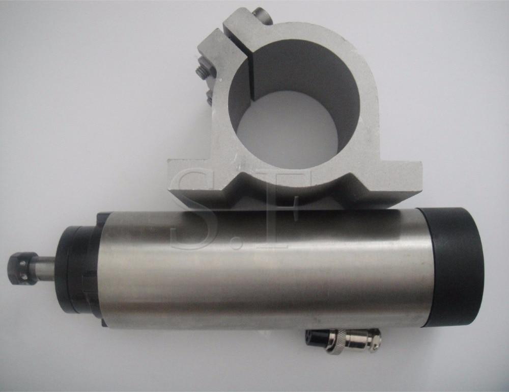 ER11 diámetro 65 mm 0.8KW, 24000 rpm motor de husillo de refrigeración por aire 4 cojinetes para enrutador cnc + soporte de husillo compatible