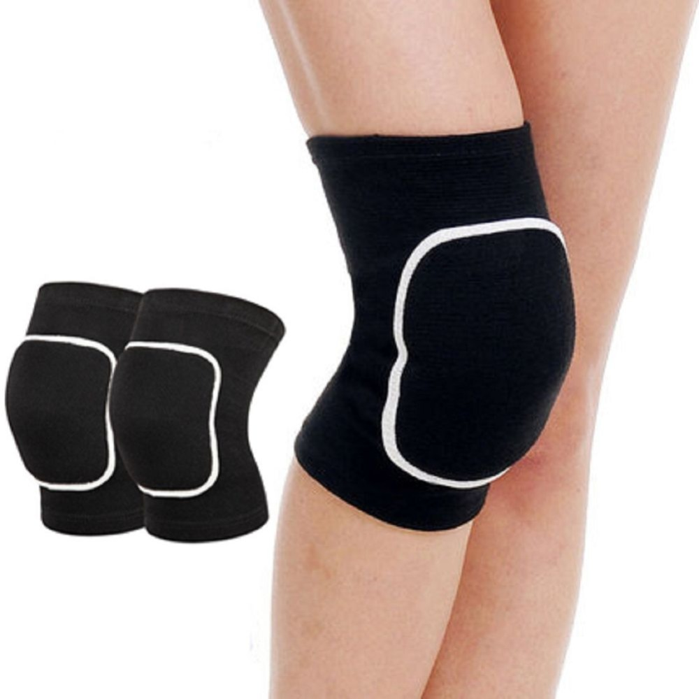1 Pair Crossfit Knä Pads Fitness Ben Support Protector Volleyboll Basket Andningsbara Sport Padding Wraps