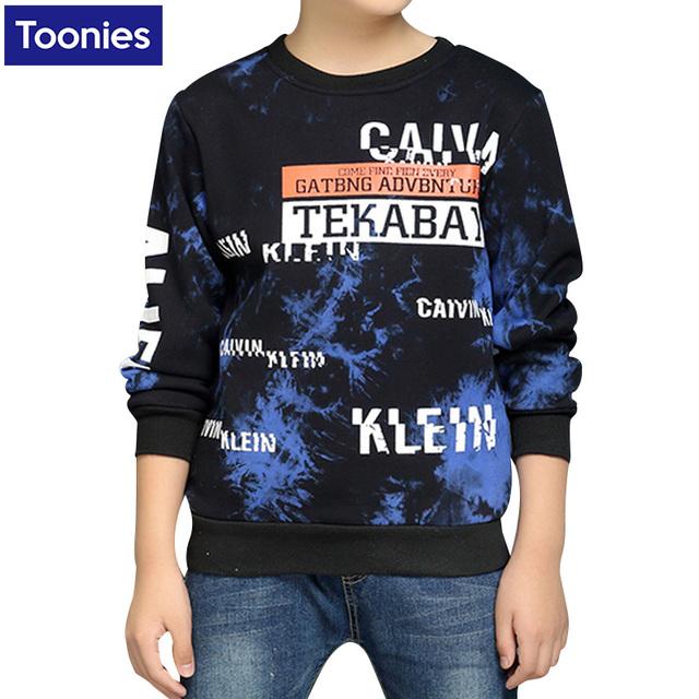 Nueva Llegada Boy Sweaster Chaqueta Suéter 2017 Nuevo Otoño Invierno de Los Niños Con Terciopelo Niño Engrosamiento Cabeza de La Manga de La Camiseta de Moda