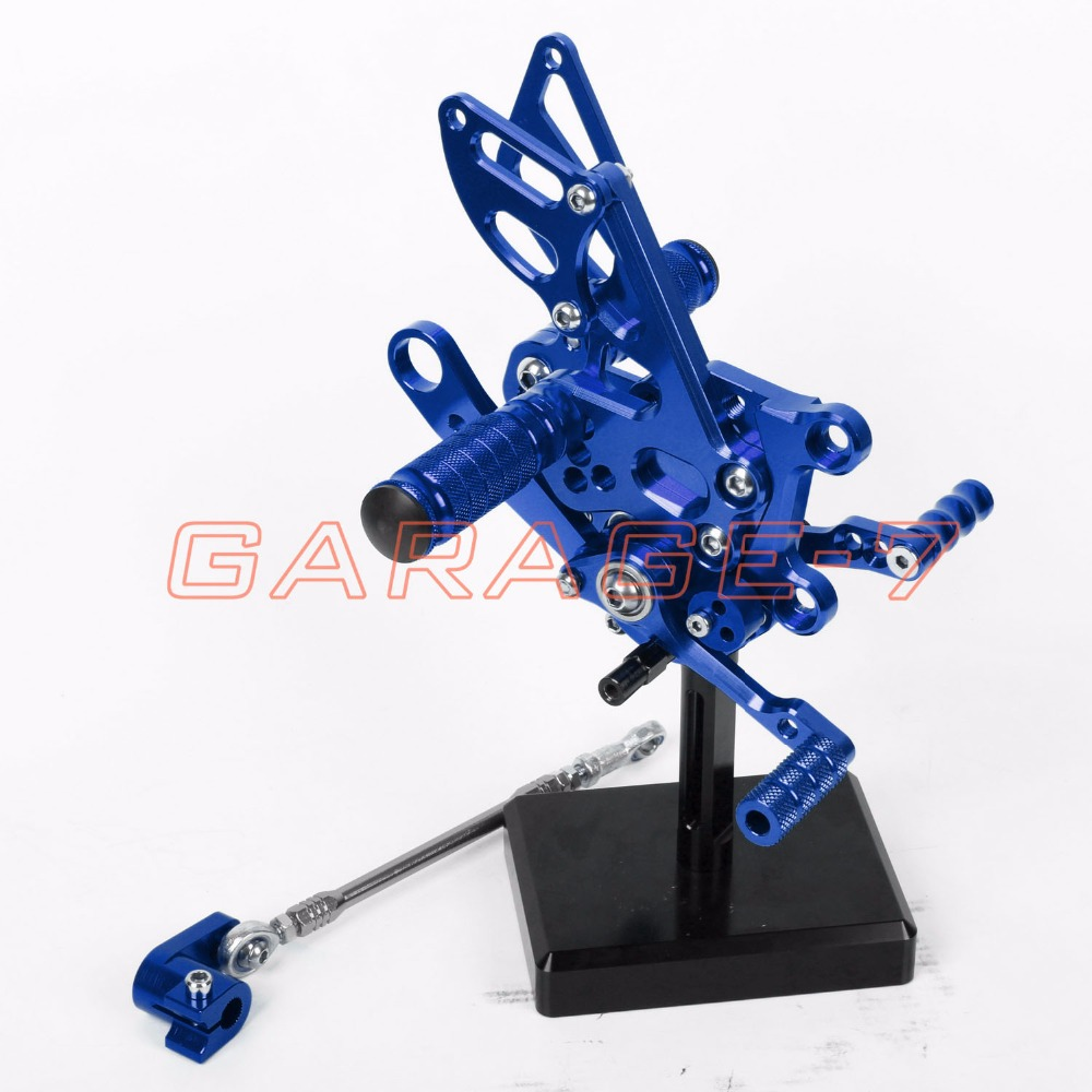For Aprilia RSV4 2009-2012 Rear Sets Foot Pegs Blue Color Hot Sale Fully Adjustable Positioning Of Motorcycle Foot Pegs New CNC