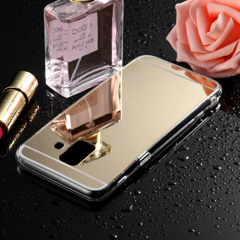 Mirror Silicone <font><b>Case</b></font> For Samsung Galaxy A7 2018 A6 Plus A5 2017 A8 A3 2016 2015 2014 A9 Star Lite <font><b>Cases</b></font> Cover Soft TPU Bumper image