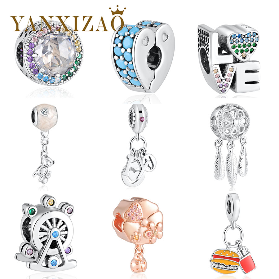 Beads Beads & Jewelry Making Original 925 Sterling Silver Charms Beads Fit Pandora Bracelet Original Diy Moon Aladdin Magic Carpet Ride Charm Women Jewelry