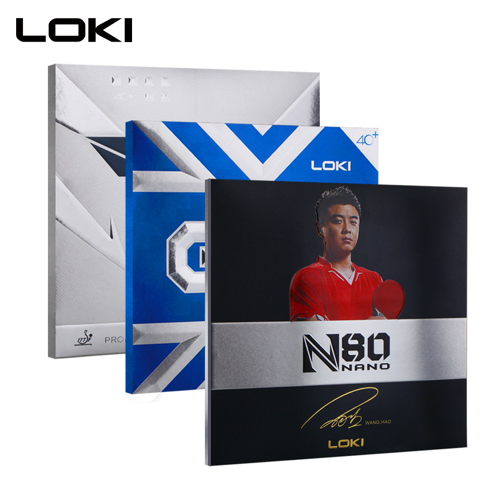 LOKI  High Quality Professional Red Table Tennis Rubber Pips In Black Ping Pong Rubber Sponge For Fast Attack/Loop/Control