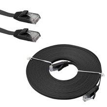 Профессиональная Светодиодная лента 5 м 16FT плоский Ethernet CAT6 сетевой кабель со свинцовым покрытием RJ45 для смарт-ТВ/Xbox сетевой кабель