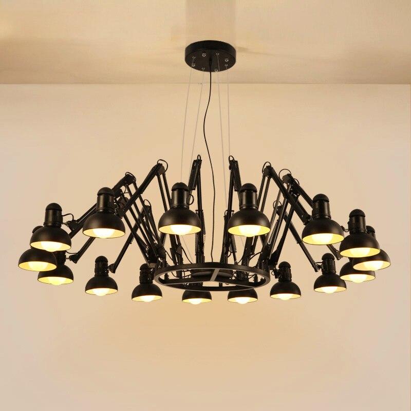 Retro Loft Designer Metall Spinne Kronleuchter Bekleidungsgeschft Wohnzimmer Licht Arbeitszimmer Mit Led Lampen