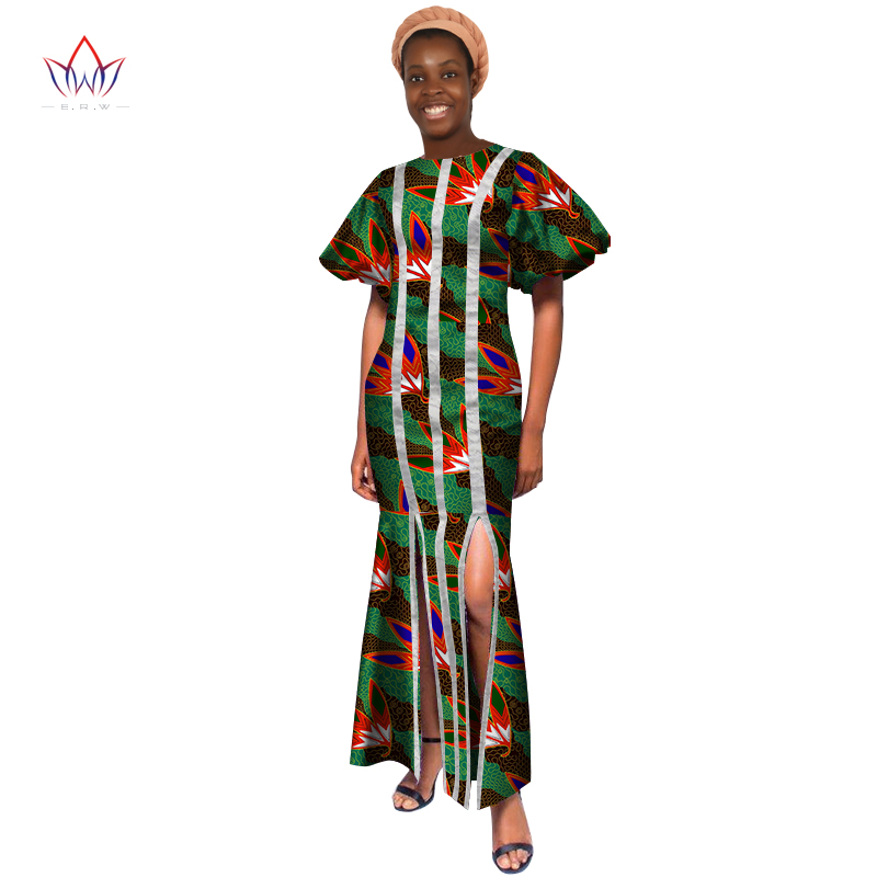 New Summer 2018 Robe Africaine Femme African Clothing For Women Bazin Rich Plus  Size Long Dress African Wax Print Dresses WY3286 bd5fa051ca17