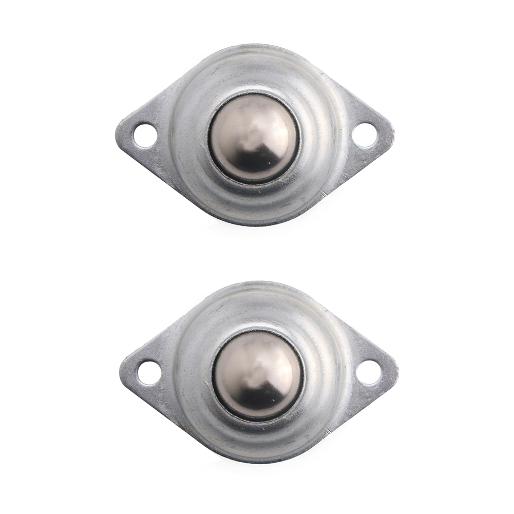 2pcs 5/8 Flange Mounted Ball Transfer Bearing Unit Caster Conveyor Roller Wheel CY-5/8A 20kg Load Capacity 4pcs ksm 22 pressed fit bearing steel ball transfer unit drop in conveyor table roller swivel metal wheel universal ball caster