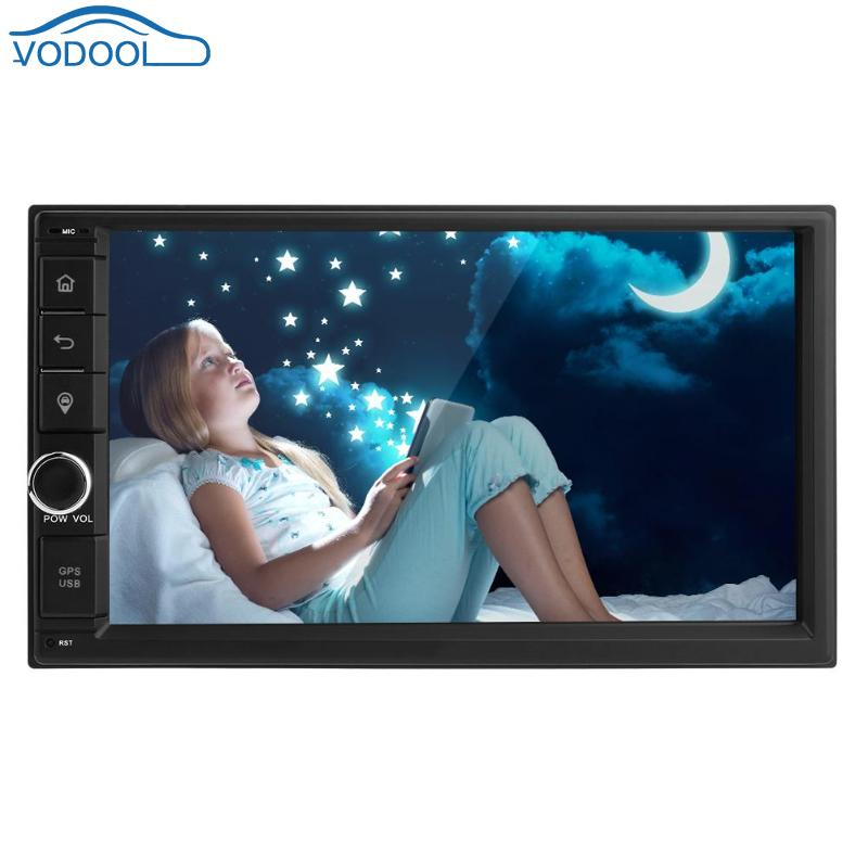 VODOOL 7in Touch Screen 1080P 2Din Auto Radio 4G WiFi ADAS A2DP Bluetooth Quad core Android 7.1 Car Stereo Radio Head Unit GPS