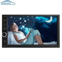 Vodool 7in Сенсорный экран 1080 P 2Din авто радио 4G Wi Fi ADAS A2DP Bluetooth Quad core Android 7,1 стерео радио головное устройство gps