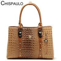 Women Bag 2016 Bag Handbags Women Famous Brands Luxury Designer Handbag High Quality Crocodile Leather Tote