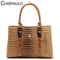 Women Bag 2016 Bag Handbags Women Famous Brands Luxury Designer Handbag High Quality Crocodile Leather Tote