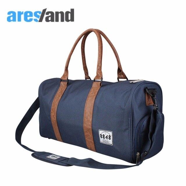Aresland 2017 33l hombres de gran capacidad de bolsa de viaje de lona redonda bolso de las señoras mujeres bolsas de equipaje de alta calidad