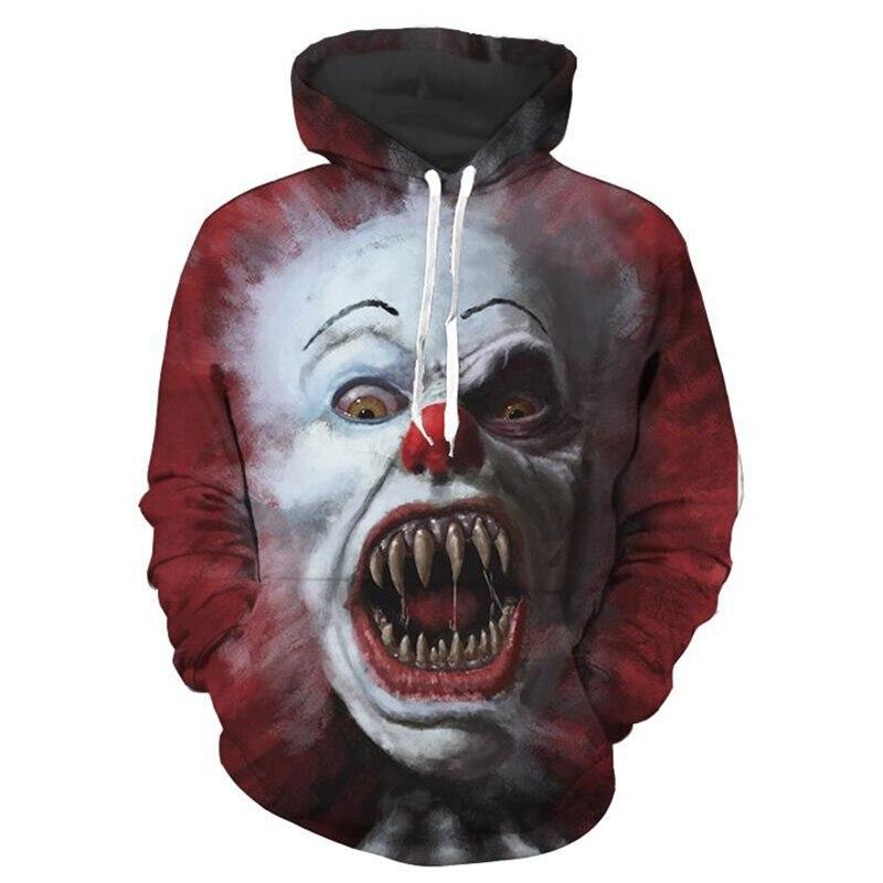 3 styles 2017 classic movie Stephen Kings It Sweatshirts Hoodies clown cosplay Costumes Halloween horror costume