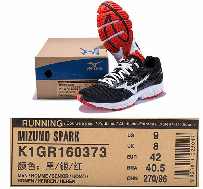 MIZUNO Men SPARK Mesh Breathable Light Weight Cushioning Jogging Running Shoes Sneakers Sport Shoes K1GR160370 XYP303 11