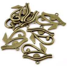 100Pcs Free shipping Hot New DIY Bronze Tone Eye of Horus Charms Pendants Findings Jewelry Making Component 33mmx26mm