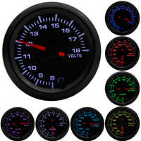 "2"" 52mm 7 Colors LED Boost/Water temp/Oil temp/Oil pressure/Voltmeter/Air fuel ratio/EGT/Tachometer RPM Car Gauge +Gauge Pods"