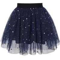 Girls Navy Blue Pearl Stars Sparkling Tutu Dancing 2018 Summer Princess Wedding Party Dresses Kids Clothes