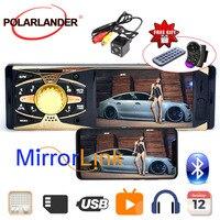 4'' 1 Din HD Car Radio Audio Stereo car MP5 Bluetooth Mirror Link Autoradio TFT+Camera Remote control 4 inch radio cassette play